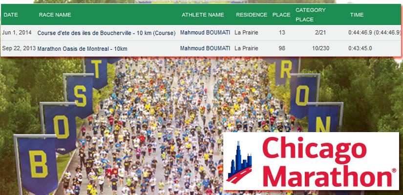 Des Algériens aux marathons de