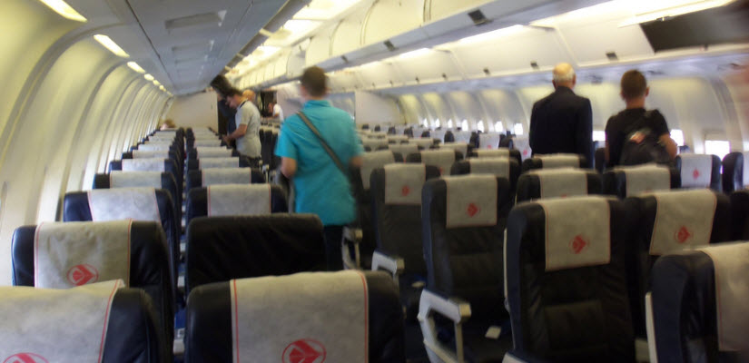 Le portail d 39 information communautaire for Interieur avion air canada
